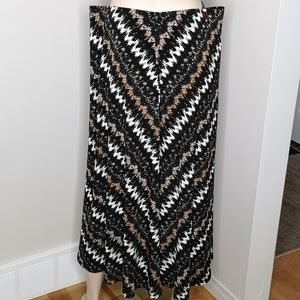 TanJay Tribal Chevron Print Maxi Skirt Plus Size
